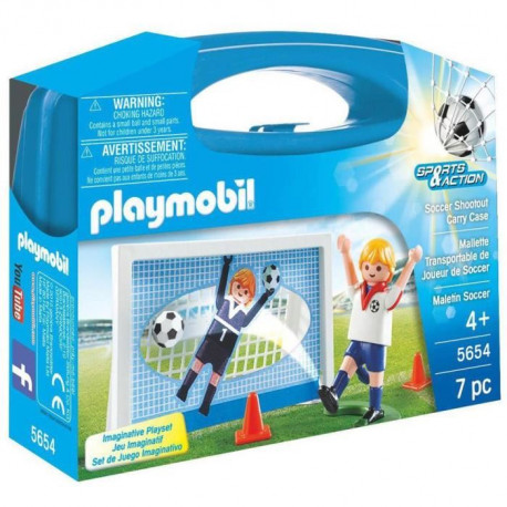PLAYMOBIL 5654 - Sports & Action - Valisette Foot