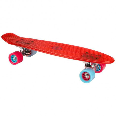 NIJDAM Mini skate plastique transparent - Rouge