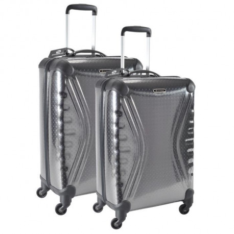 SAVEBAG Set de 2 valises a 4 roues CARBOSITE - Gris anthracite