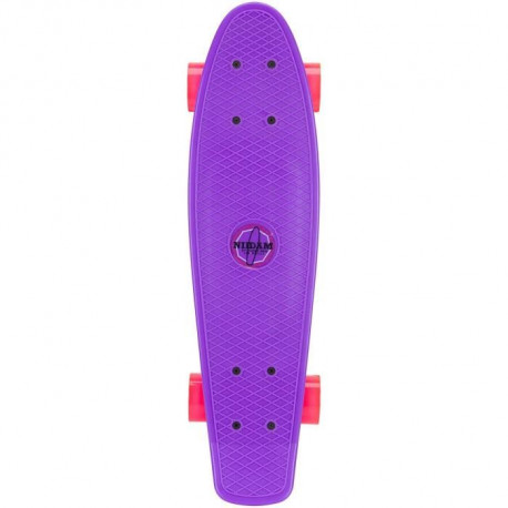 NIJDAM Mini Skateboard a LED - Violet