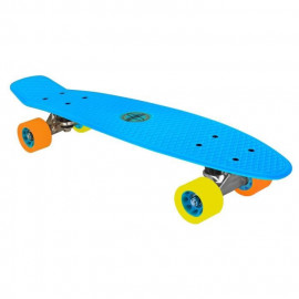 NIJDAM Mini Skateboard Cruiser - Bleu