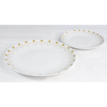 INSEA Service de table 12 pieces - Blanc