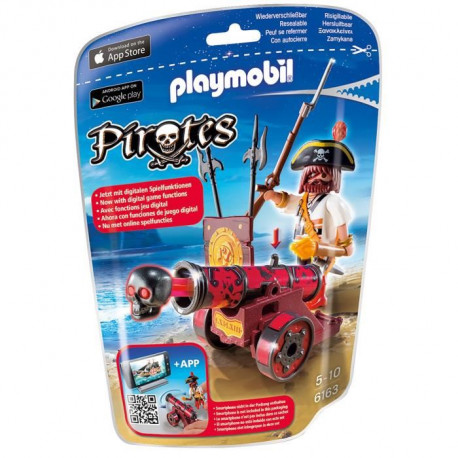 PLAYMOBIL 6163 Pirate avec canon rouge