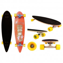 BLACK DRAGON Longboard Pintail 36 pouces - Orange