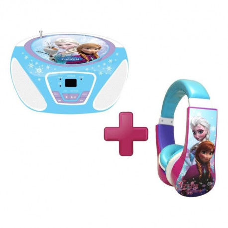 LA REINE DES NEIGES Pack CD Boombox + Casque Audio