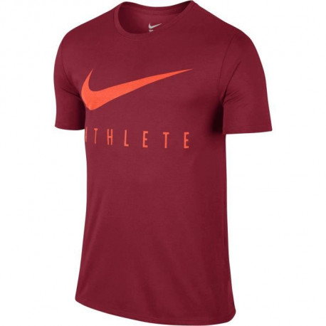 NIKE T-shirt Dry Db Athlete - Homme - Rouge