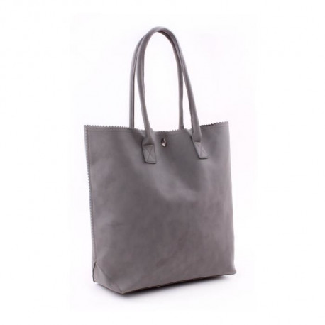 GENSHII Sac porté épaule Anytime you need a Friend en simili - 36x30x13 cm - Gris