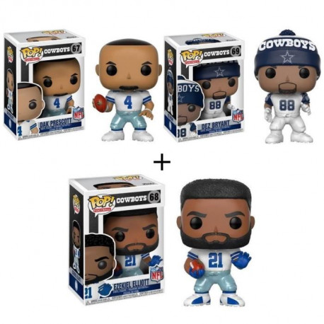 Pack de 3 Pop! NFL : Cowboys