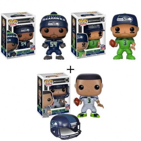 Pack de 3 Pop! NFL : Seattle Seahawks