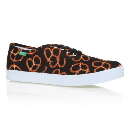 KEEP Baskets Homer Bretzel - Femme - Noir et Orange