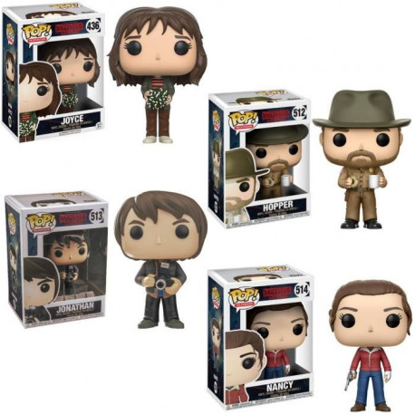 Pack de 4 Funko Pop! Stranger Things