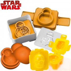 Pack 3 moules Star Wars