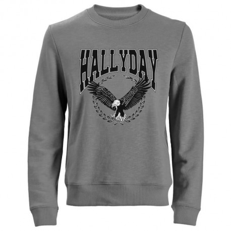 Sweat Aigle Johnny Hallyday - Homme - Gris