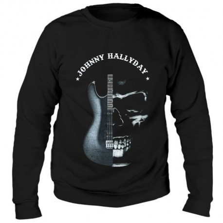Sweat Guitare Johnny Hallyday - Homme - Noir