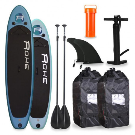 ROHE Pack Famille Paddle 10'6 + Paddle 9'0 - Avec accessoires