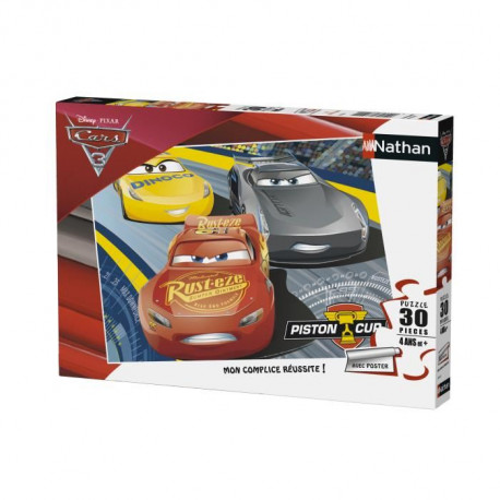 CARS Puzzle 30 pcs Flash McQueen et Cruz - Disney