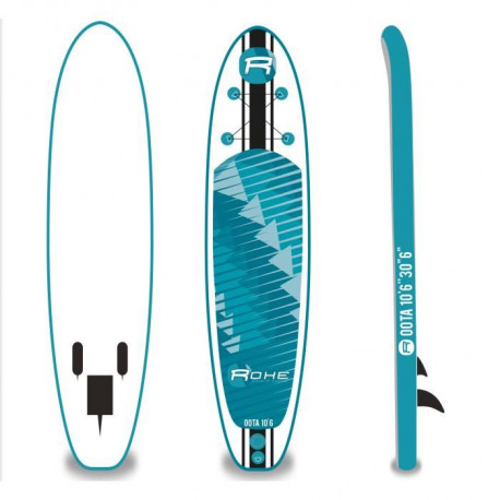 ROHE Stand Up Paddle Gonflable Oota 10'6 x 30'' x 6'' Sans Accessoires