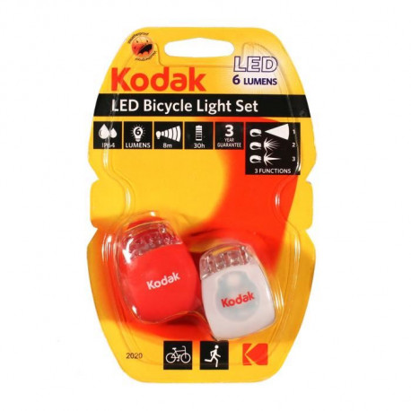 KODAK Lampe LED Kit Vélo Light Set - 6 lumens