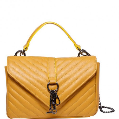 MAIA PARIS - HELIOS Sac a main jaune moutarde