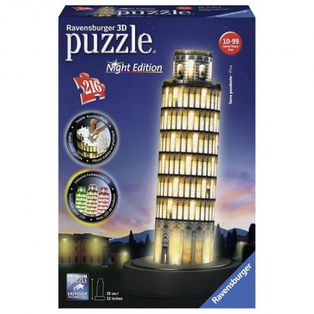 RAVENSBURGER Puzzle 3D Tour De Pise Night Edition 216 pcs