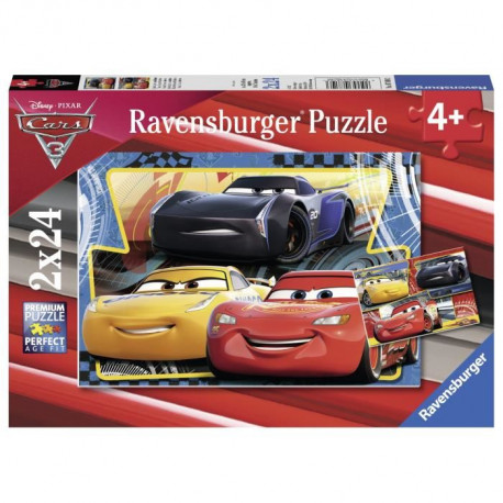 CARS Puzzle 2x24 pcs Flash, Cruz et Jackson - Disney