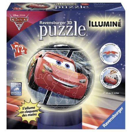 CARS Puzzle 3D Illuminé 72 pcs - Disney