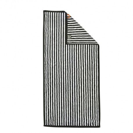 DONE Daily Shapes STRIPES Serviette de toilette 50x100cm - Noir et Blanc