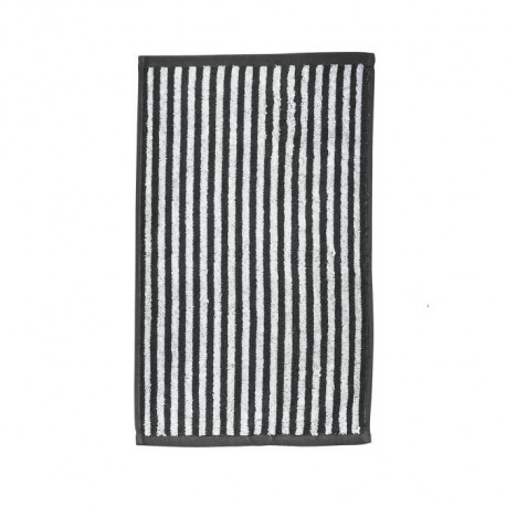 DONE Daily Shapes STRIPES Serviette Invité 30x50cm - Anthracite et Blanc