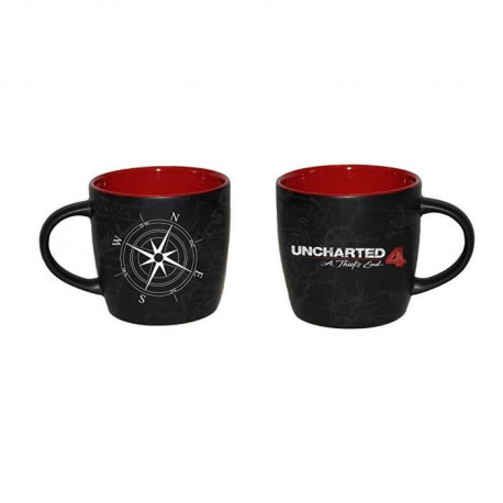 Uncharted 4 - Mug Carte de Uncharted Compass 4 Élégant - 320ml - Noir