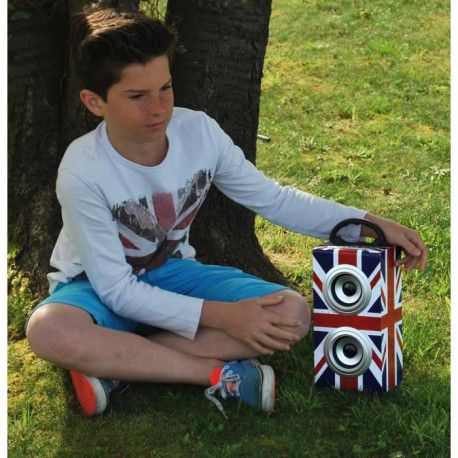 TEKNOFUN Mini Tour Enceinte Bluetooth UK Grunge