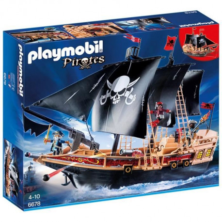 PLAYMOBIL 6678 - Pirates - Bateau Pirates des Ténebres