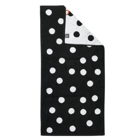 DONE Daily Shapes DOTS Serviette de toilette 50x100cm - Noir et Blanc