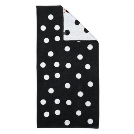 DONE Daily Shapes DOTS Drap de Douche 70x140cm - Noir et Blanc