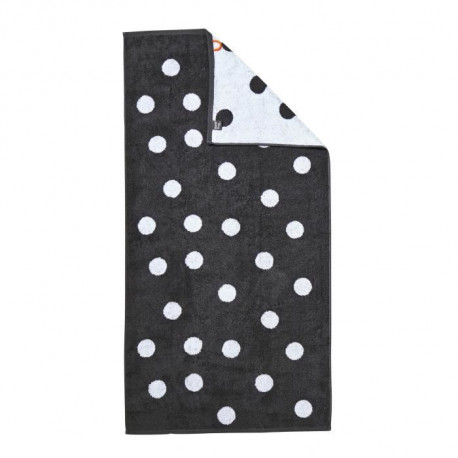 DONE Daily Shapes DOTS Drap de Douche 70x140cm - Anthracite et Blanc