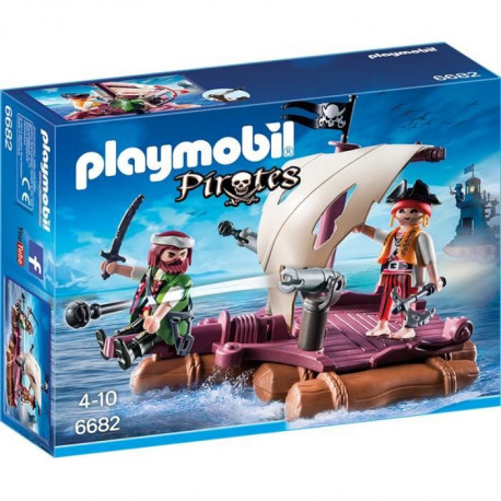 PLAYMOBIL 6682 - Pirates - Radeau avec Pirates des Ténebres