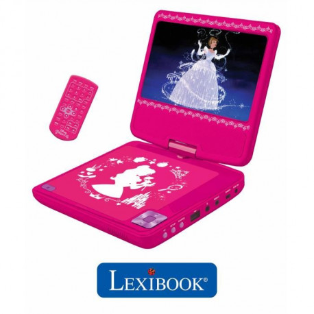LEXIBOOK - DISNEY PRINCESSES - Lecteur DVD portable Disney Princesses