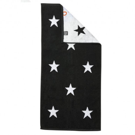 DONE Daily Shapes STARS Serviette de toilette 50x100cm - Noir et Blanc