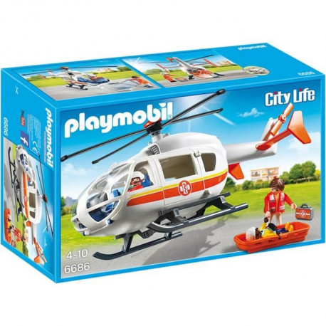 PLAYMOBIL 6686 - City Life - Hélicoptere Médical