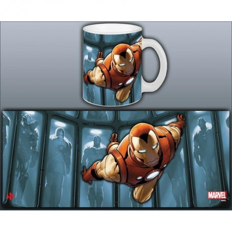 Mug Marvel Hall Of Armor Iron Man Série 1 Blanc