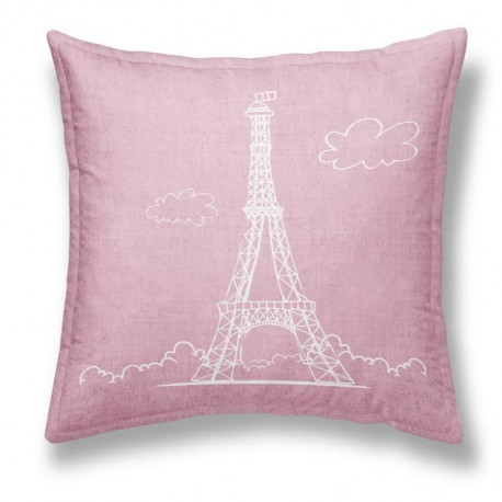 TODAY Coussin déhoussable Chambray Coton EIFFEL - 40x40cm