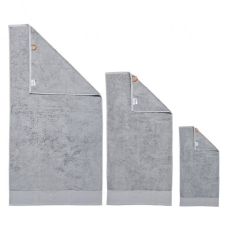 DONE Lot de 3 serviettes Stone Star - Argent