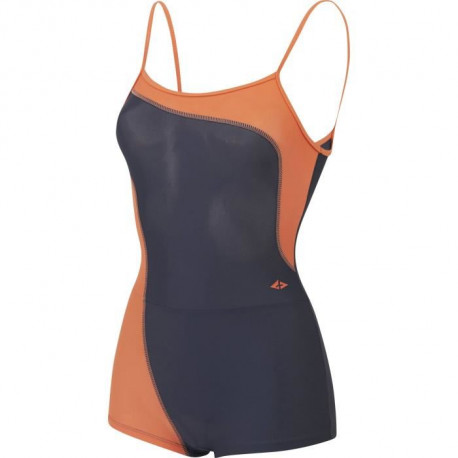 ATHLI-TECH Maillot de Bain Elia - Enfant Fille - Noir et Orange
