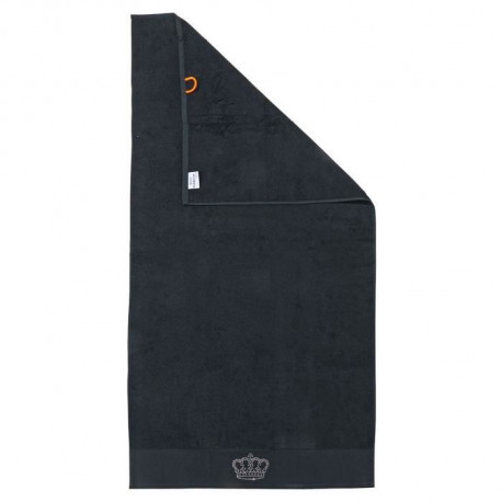 DONE Drap de Douche Stone Crown - Noir - 70x140cm
