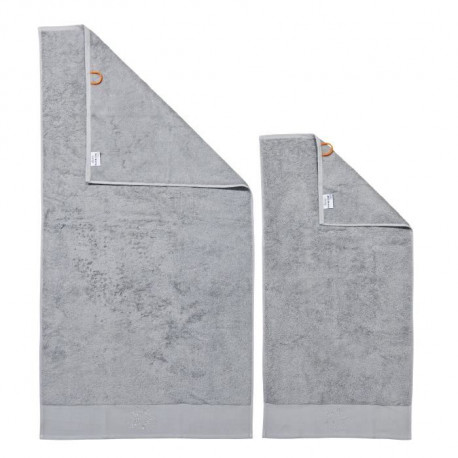 DONE Lot de 2 serviettes Stone Star - Argent