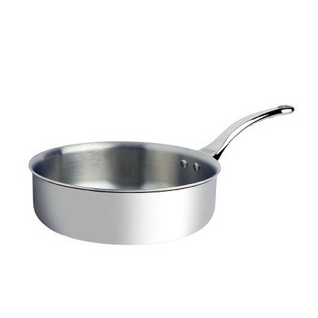 DE BUYER Sauteuse Affinity bords droits - Inox - Diametre : 24 cm