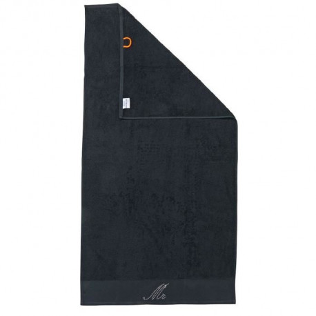 DONE Drap de Douche Stone Mr - Noir - 70x140cm