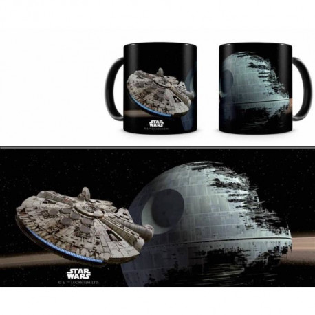STAR WARS Mug Céramique Falcon vs Death Star