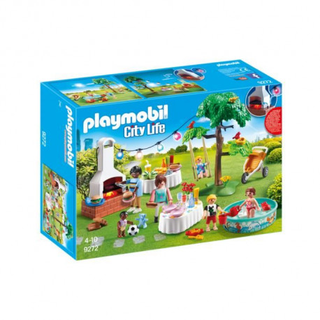 PLAYMOBIL 9272 - City Life - Famille et Barbecue Estival