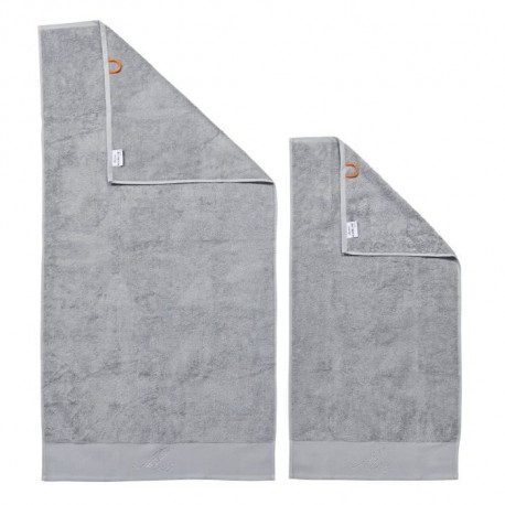 DONE Lot de 2 serviettes Stone Mrs - Argent
