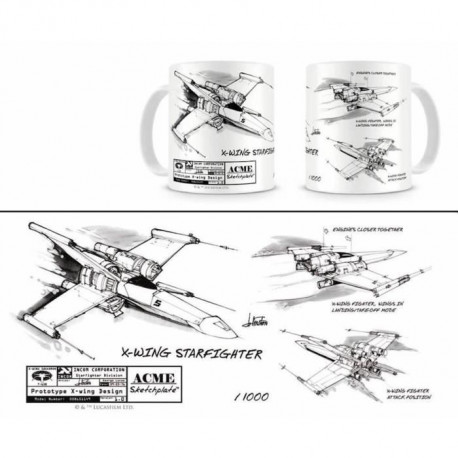 STAR WARS Mug Céramique X-Wing Blanc